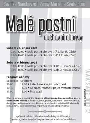 Male - postni - obnovy